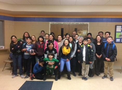 a group of youth participants in the Juntos program