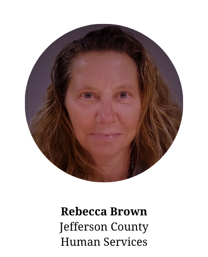 Headshot of Rebecca Brown- member of the planning committee who works for Human Services in Jefferson County