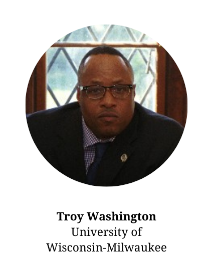 Head shot of committee member Troy Washington - Faculty and UW Milwaukee